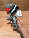 Краскораспылитель пневматический с верхним бачком V 0,6 л, сопло D 1.2, 1.5 и 1.8 мм MTX, фото 3