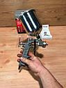 Краскораспылитель пневматический с верхним бачком V 0,6 л, сопло D 1.2, 1.5 и 1.8 мм MTX, фото 4