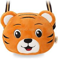 Оранжевая мягкая модная сумочка детская серия зоопарк Тигр