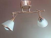 Люстра потолочная на 2  плафона золотистая 0165 , фото 1