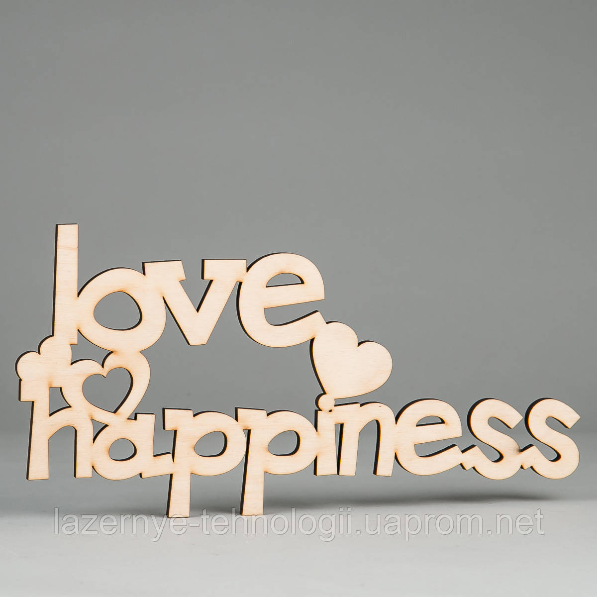 "Слова из дерева ""love V happiness"""