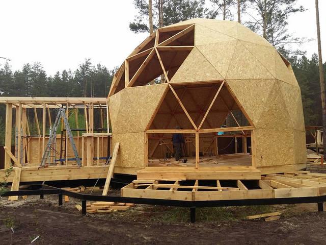 Строительство каркас купольного дома диаметром 9 и 11 метров