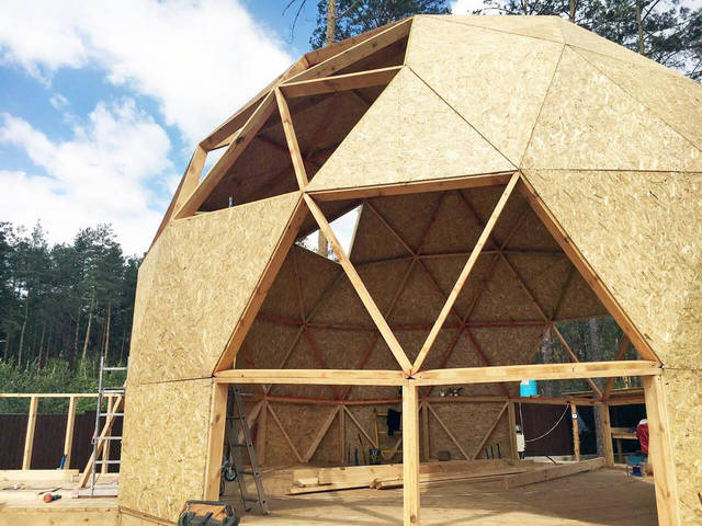 Строительство каркас купольного дома