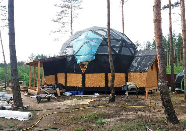 Проект Киев 9/11. Купольный дом диаметром 9 метров