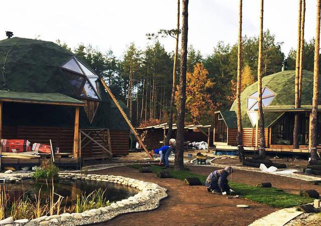 Проект Киев 9/11. Два купольных дома диаметром 9 и 11 метров