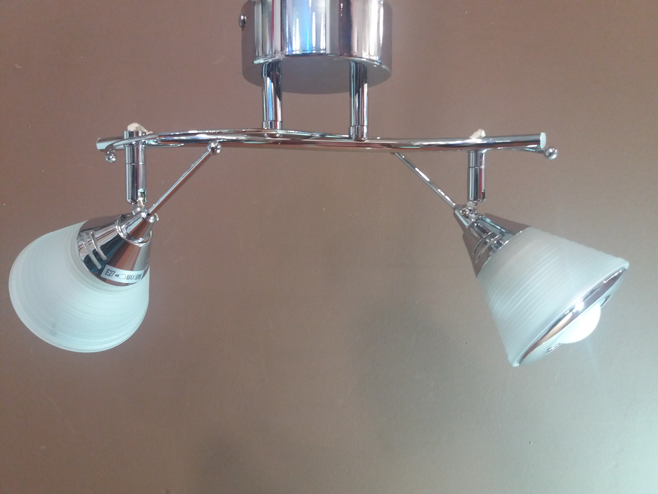 Люстра потолочная на 2 два плафона Хром 0165