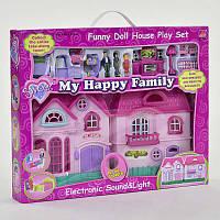 Домик кукольный игровой 16526 с мебелью, коробка 52х7х43см