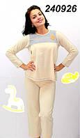 Пижама для кормящих S M L желто/серая