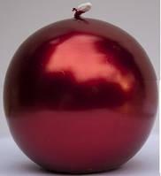 Свеча круглая парафиновая цвет красный мет 1шт, уценка (местами отслоения краски)
