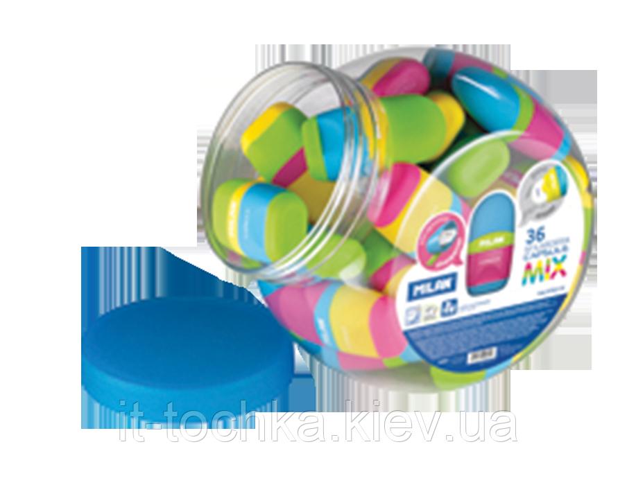 Ластик + точилка capsule mix rubber touch, банка ml.4701236