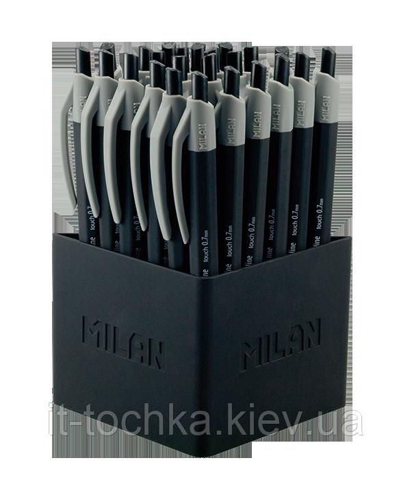 Ручка шариковая fine line rubber touch, 0.7мм, дисплей 24 шт, черный ml.176561124
