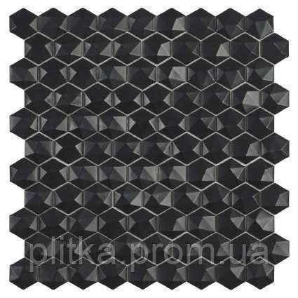Мозаїка Matt Black Hex 903 D 31,5*31,5, фото 2