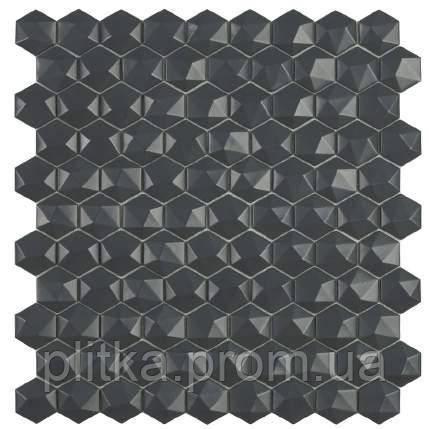 Мозаїка Matt Dark Grey Hex 908 D 31,5*31,5, фото 2