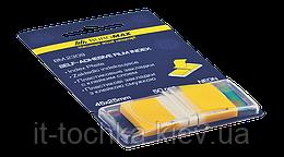 Закладки пластиковые pop-up neon, 45x25мм, 50л., желтый bm.2309-08