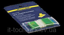 Закладки пластиковые buromax bm.2309-04 зеленые pop-up neon, 45x25мм 50 листов