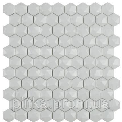 Мозаїка Matt Light Grey Hex 909 D 31,5*31,5, фото 2