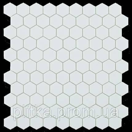 Мозаїка Matt White Hex 910H 31,5*31,5, фото 2