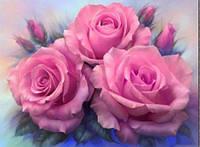 Алмазная вышивка букет роз, 30х40 см