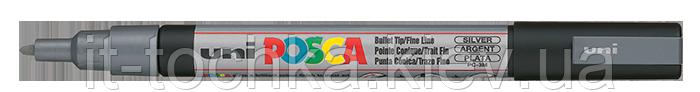 Серый маркер posca uni pc-3m.grey 0.9-1.3мм