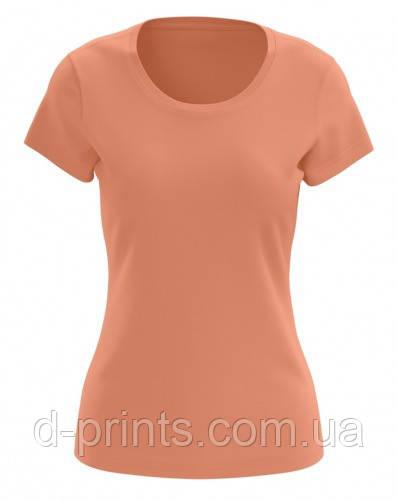 Футболка женская персиковая 100% cotton