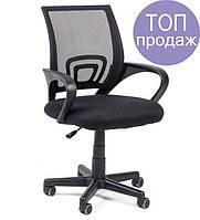 Офисный стул-кресло на колесиках черного цвета Comfort black, Львов