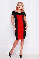 Платье Аделина-Б б/р черный с красным
