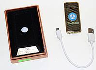 Электроимпульсная зажигалка с USB зарядкой, золотистая, Мерседес