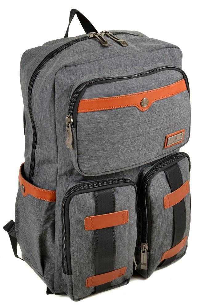 Тканевый рюкзак Witzman 331 grey серый 27л
