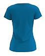 Футболка женская синяя 100% cotton, фото 2