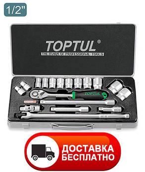 """Набор инструмента 1/2"""" 18ед. (12-гр.) Toptul GCAD1804, фото 2"""