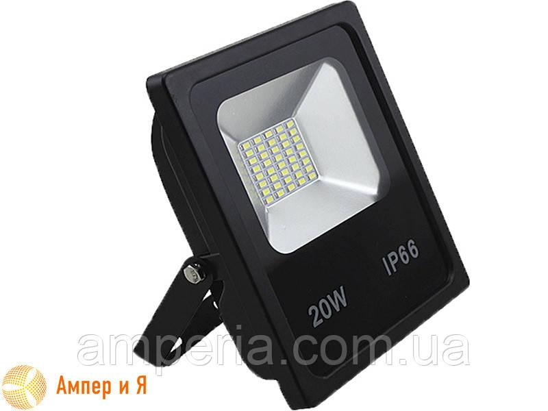 Прожектор светодиодный LED-NGS-10 PREMIUM 6000K 20W(вт), 2000 lm тонкий корпус (slim) NIGAS