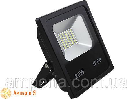 Прожектор светодиодный LED-NGS-10 PREMIUM 6000K 20W(вт), 2000 lm тонкий корпус (slim) NIGAS, фото 2