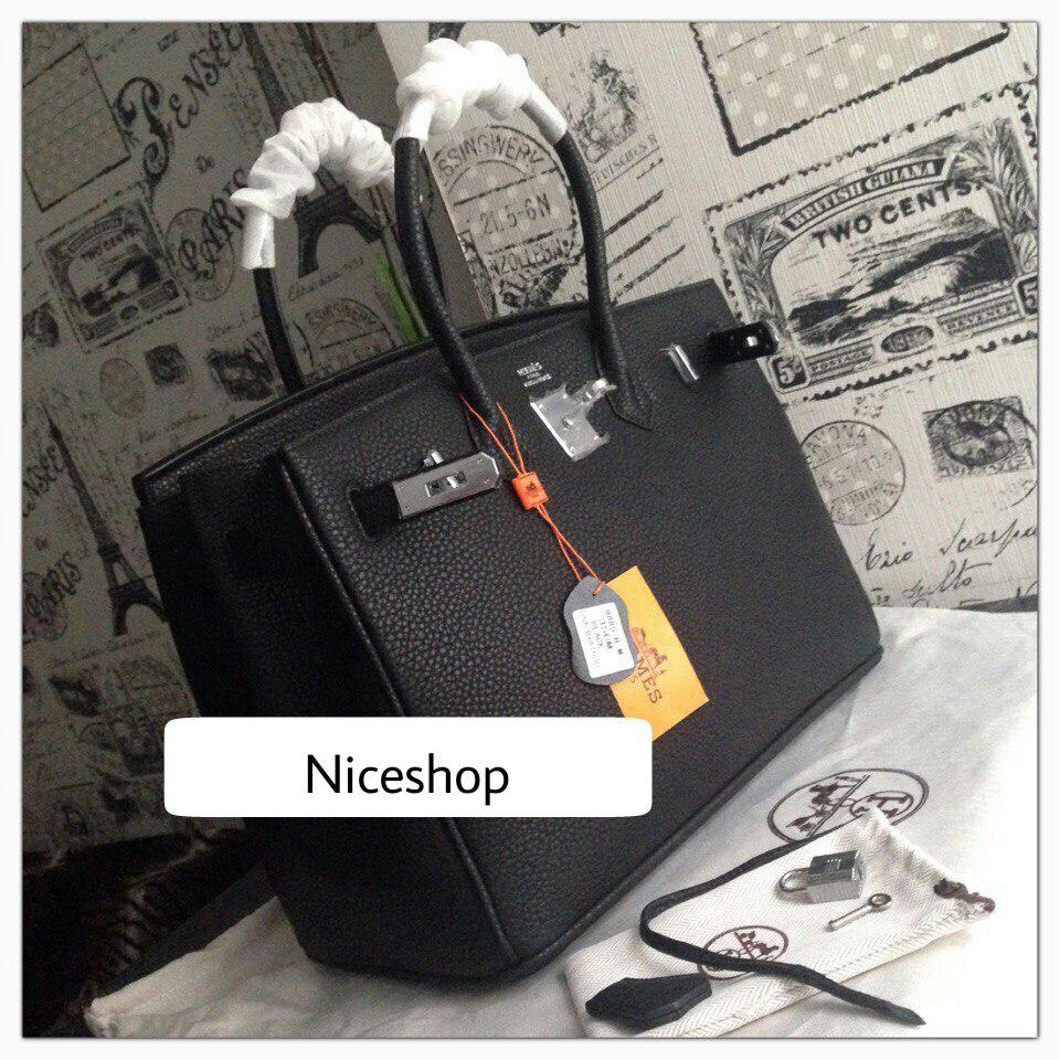 337334c0f684 Люкс-копия Hermes Birkin черная, кожа, 35 см, стандарт: продажа ...