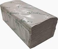 Полотенца бумажные серые V-складка (170 шт/уп)