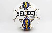 Мяч футбольный SELECT BRILLANT SUPER ST-5844 белый-синий-оранжевый (№5, 5 сл.)
