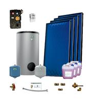 Пакет солнечных коллекторов ENSOL для приготовления горячей воды на 4-6 человек из 4 панелей