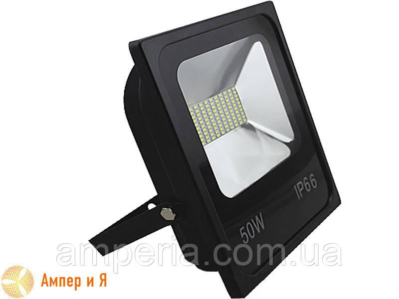 Прожектор светодиодный LED-NGS-10 PREMIUM 6000K 50W(вт), 5000 lm тонкий корпус (slim) NIGAS