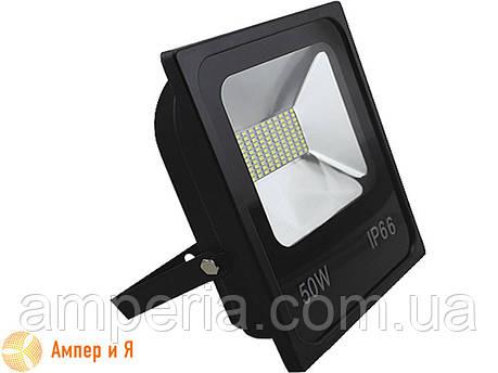 Прожектор светодиодный LED-NGS-10 PREMIUM 6000K 50W(вт), 5000 lm тонкий корпус (slim) NIGAS, фото 2