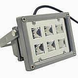 Фито прожектор 12 Вт 220 Вольт  водостойкий для гидропоники, теплиц, растений, фото 4