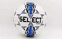 Мяч футбольный SELECT NUMERO10  ST-6487 белый-голубой (№5, 5 сл., сшит вручную)