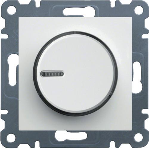 Светорегулятор поворотный 60-600 Вт Hager Lumina Белый
