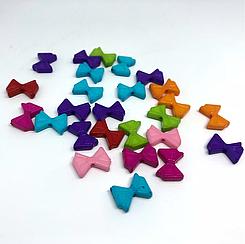 Пластиковые элементы для творчества. Бабочка. Цвет микс. 12мм