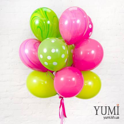 Красивый букет из 15 шаров с гелием, фото 2