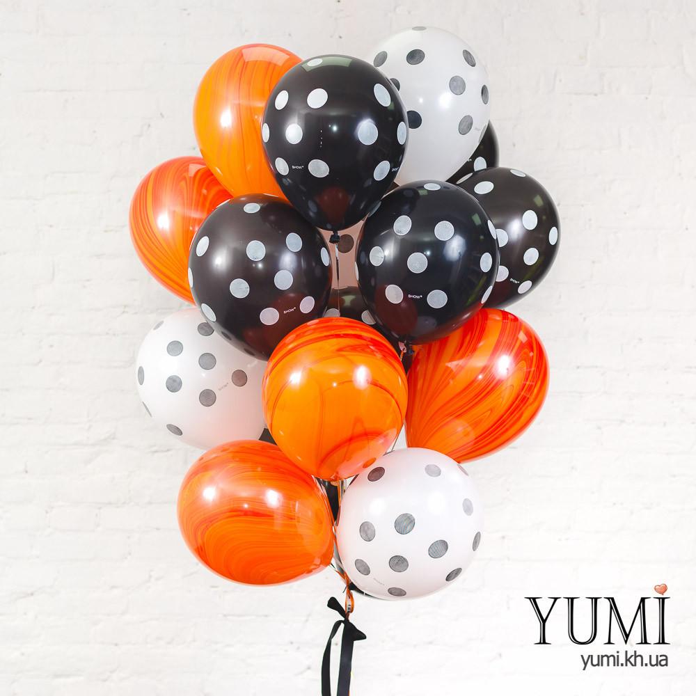 Букет на праздник из 20 воздушных гелиевых шаров