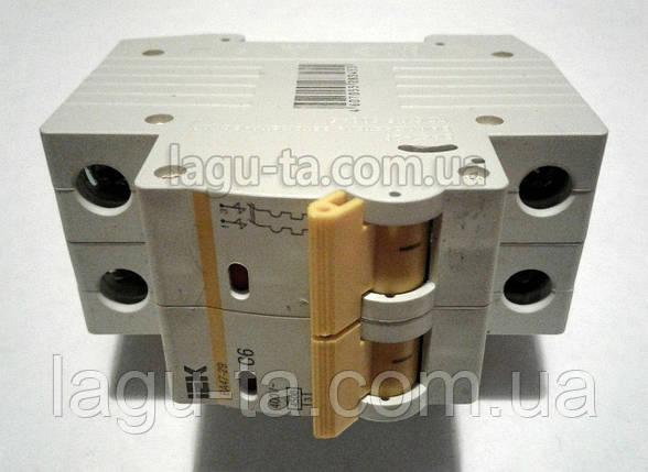 Автоматический выключатель двухполюсный 6А на DIN-рейку IEK., фото 2