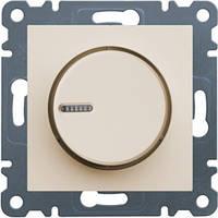 Светорегулятор поворотный 60-600 Вт Hager Lumina2 Кремовый WL4011
