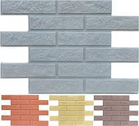 Фасадная панель «Кирпич» (гладкий и колотый) без пигмента и утеплителя под покраску - отделка стен