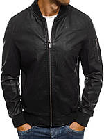 Мужская весенняя кожаная куртка 078