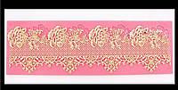 Коврик силиконовый для гибкого айсинга Кружева из роз.