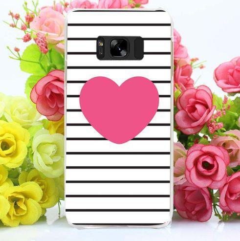 Оригінальний чохол бампер для Samsung Galaxy S8 Plus G955 з картинкою Рожеве серце